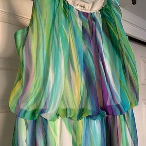 High-low Watercolor Summer Dress